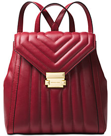 MICHAEL Michael Kors Whitney Quilted Leather Small Backpack