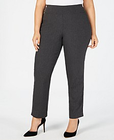 Plus Size Cambridge Tummy-Control Pull-On Pants, Created for Macy's