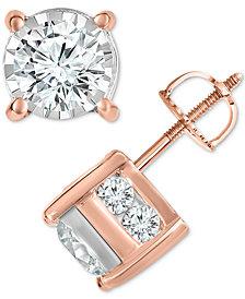TruMiracle® Diamond Layered Stud Earrings (1-1/2 ct. t.w.)