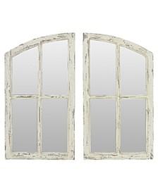 Jolene Arch Window Pane Mirrors (Set of 2)