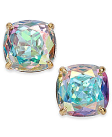 Kate Spade New York Gold Tone Crystal Square Stud Earrings