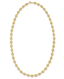 "Puff Mariner Link (6mm) 24"" Chain Necklace in 14k Gold"