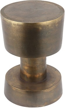 Mansfield Accent Table Antique Brass