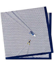 Tommy Hilfiger Men's Snorkeler Conversational Silk Pocket Square