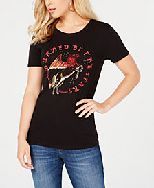 GUESS Burned By the Stars Graphic T-Shirt