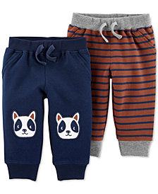 Carter's Baby Boys 2-Pc. Printed Cotton Jogger Pants Set
