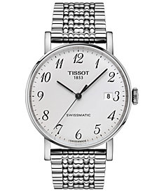 Tissot Men's Swiss Automatic T-Classic Everytime Swissmatic Gray Stainless Steel Bracelet Watch 40mm