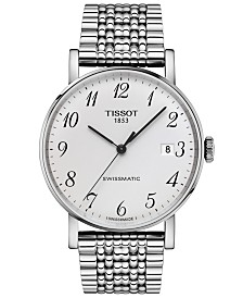 Tissot Men's Swiss Automatic T-Classic Everytime Swissmatic Gray Stainless Steel Bracelet Watch 40mm