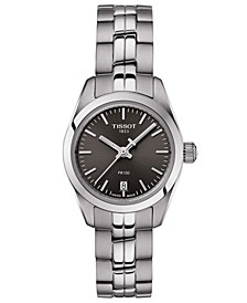 Women's Swiss T-Classic PR 100 Gray Stainless Steel Bracelet Watch 25mm