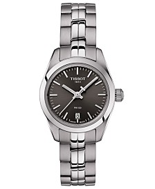 Tissot Women's Swiss T-Classic PR 100 Gray Stainless Steel Bracelet Watch 25mm
