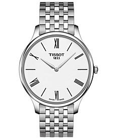 Men's Swiss T-Classic Tradition 5.5 Gray Stainless Steel Bracelet Watch 39mm