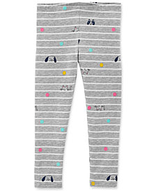 Carter's Baby Girls Striped Animal-Print Leggings