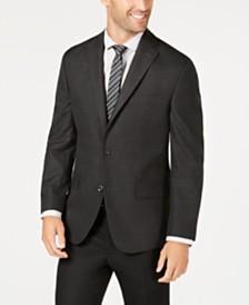 Michael Kors Men's Classic-Fit Charcoal/Purple Plaid Sport Coat
