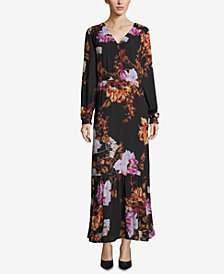 ECI Printed Blouson Maxi Dress