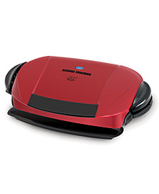 George Foreman 5-Serving Removable Plate Electric Indoor Grill & Panini Press