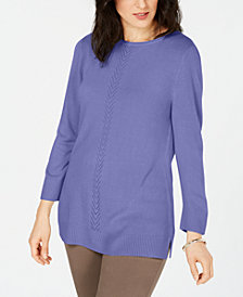 Karen Scott Soft Pointelle Sweater, Created for Macy's