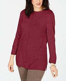 Karen Scott Soft Pointelle Sweater, Created for Macy's