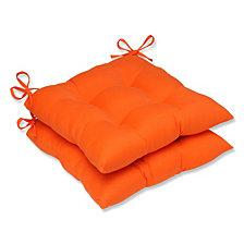 Sundeck Orange Wrought Iron Seat Cushion, Set of 2