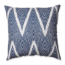 "Bali Navy 18"" Throw Pillow"