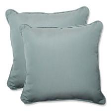 "Canvas Spa 18.5"" Throw Pillow, Set of 2"