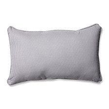 Oxford Charcoal Rectangular Throw Pillow