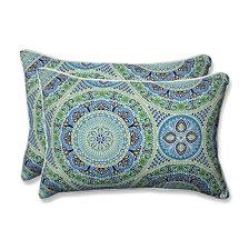 Delancey Lagoon Over-sized Rectangular Throw Pillow, Set of 2