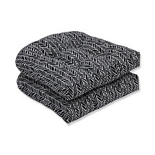 Herringbone Night Wicker Seat Cushion, Set of 2