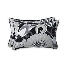 Sophia Graphite Rectangular Throw Pillow, Set of 2