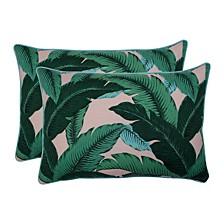 Swaying Palms Capri Over-sized Rectangular Throw Pillow, Set of 2