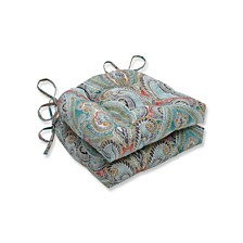 Pretty Witty Reef Reversible Chair Pad, Set of 2