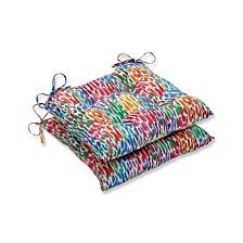 Make It Rain Zinnia Wrought Iron Seat Cushion, Set of 2