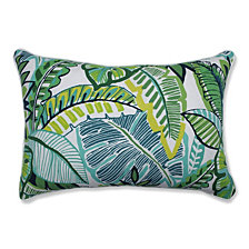 Aruba Jungle Green Over-sized Rectangular Throw Pillow, Set of 2