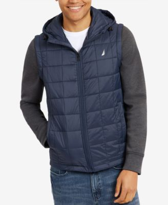 Nautica Mens Lightweight Down Jacket with Detachable Sleeves