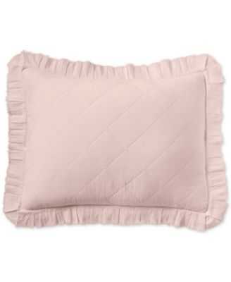 Linen-Cotton Ruffle Standard Sham, Created for Macy's