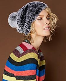 Knitted Rabbit Fur Hat