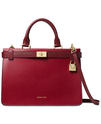 Tatiana Medium Leather Satchel by Michael Michael Kors