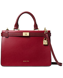 MICHAEL Michael Kors Tatiana Medium Leather Satchel