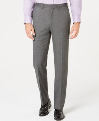 Men's Ultimate Moves Modern-Fit Stretch Black/White Birdseye Suit Pants, Created for Macy's