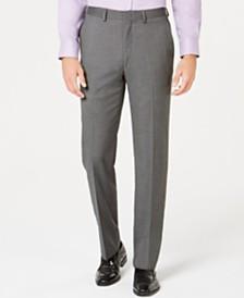 Ryan Seacrest Distinction™ Men's Ultimate Moves Modern-Fit Stretch Black/White Birdseye Suit Pants, Created for Macy's