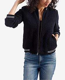 Lucky Brand Fleece Bomber Jacket