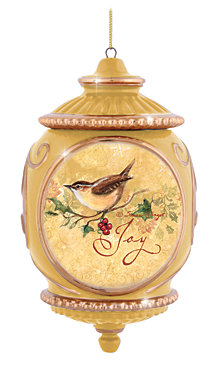 Precious Moments Bird on Branch With Berries Ornament