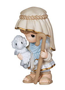 Come Let Us Adore Him - Nativity Shepherd Figurine
