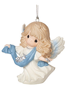 Precious Moments Guide Us To Thy Perfect Light 6th in Annual Angel Series Ornament