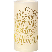 Precious Moments O Come Let Us Adore Him Flameless Candle