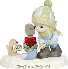 Don't Stop Believing Boy And Puppy Figurine
