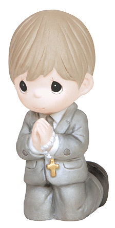 Remembrance Of My First Holy Communion Figurine, Boy