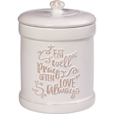Bountiful Blessings Eat Pray Love Kitchen Canister
