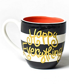 Happy Everything by Laura Johnson Collection Black Stripe Mug