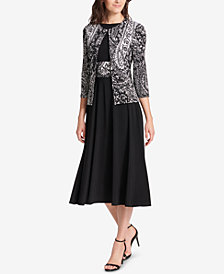 Jessica Howard Fit & Flare Midi Dress & Printed Jacket