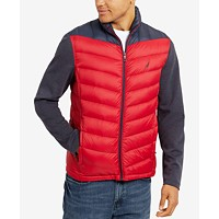 Nautica Mens Colorblocked Quilted Jacket